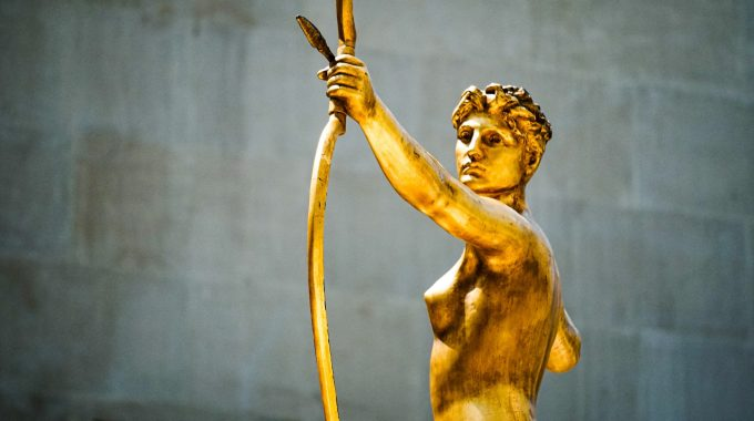 Female With Arrow Statue