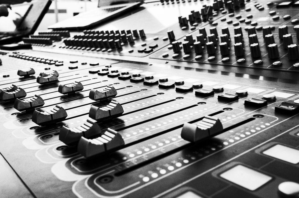 close up photo of audio mixer