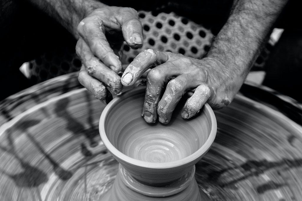 brown clay pot